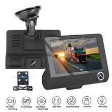 LEEPEE voiture DVR Auto enregistrateur DVR 3 caméras objectif 4.0 pouces Dash caméra double lentille support rétroviseur caméra enregistreur vidéo