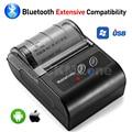 GZM5810 POS мини Термальный чековый принтер 58 мм беспроводной Bluetooth принтер для iOS Android USB термальный POS билетный принтер