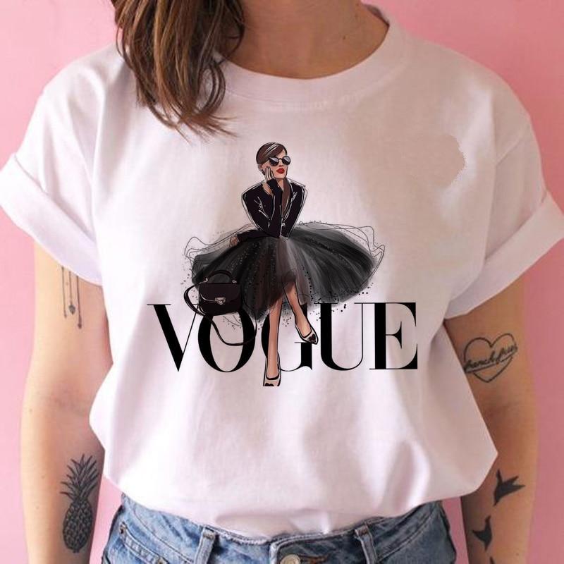 vogue princess t shirt print female grunge ulzzang tshirt cartoon funny tops shirts 90s t shirt Graphic clothes fashion girl T-Shirts  - AliExpress