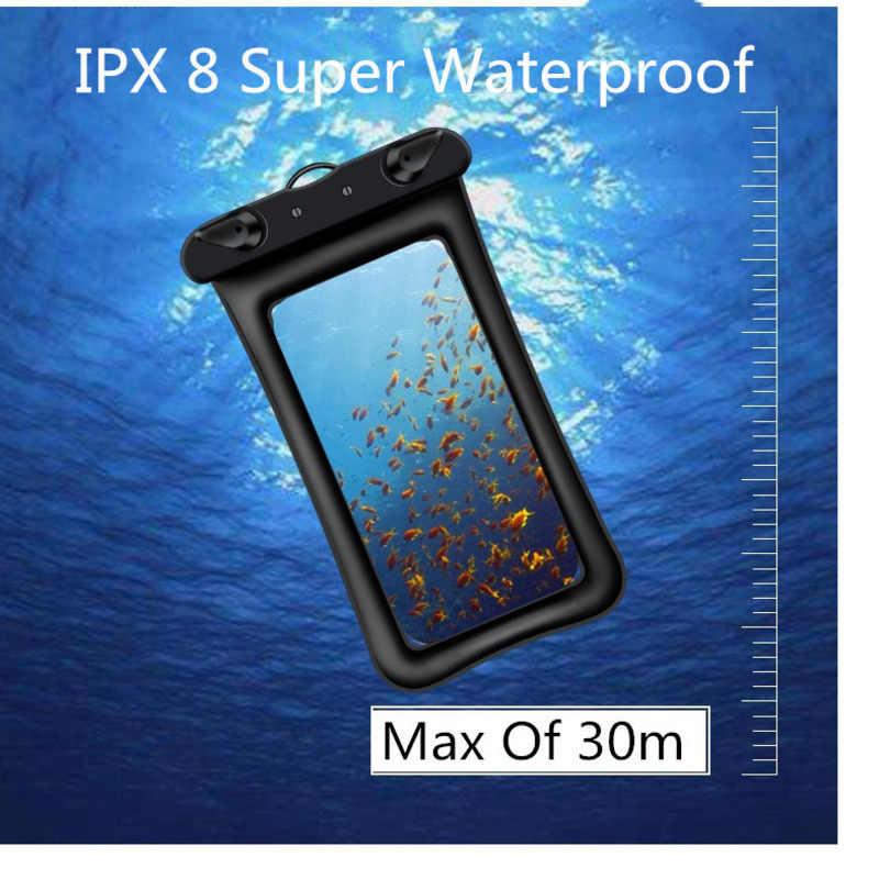 Étui de téléphone portable étanche à flotteur pour iPhone X Xs Max Xr 8 Samsung 6.5 pouces pochette étanche étanche en PVC pour téléphone intelligent sous-marin