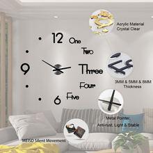 Новинка 2020 настенные часы зеркальные Стикеры современный дизайн