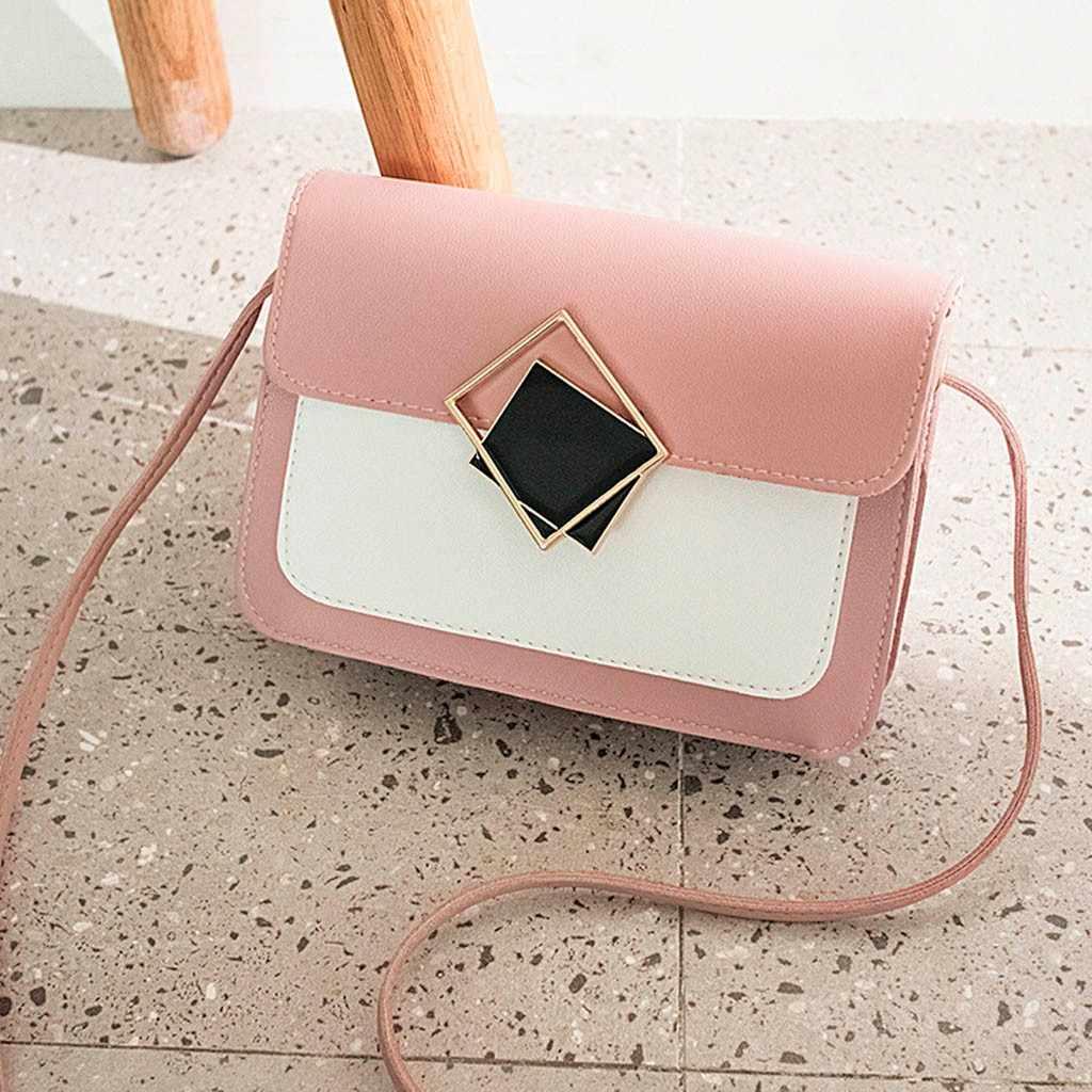 Senhoras da forma esculpida ombro pequeno quadrado crossobdy messenger saco do telefone móvel bolsas mujer feminina #25
