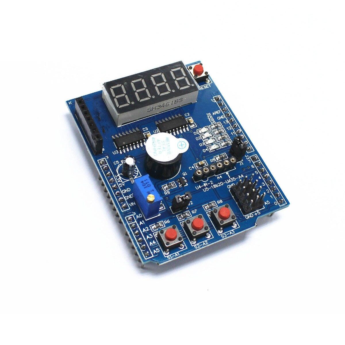 Kit placa de expansão multifuncional baseada aprendizagem para arduino uno r3 lenardo mega 2560 escudo