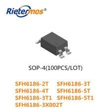 100 قطعة SMD4 SFH6186 2T SFH6186 3T SFH6186 4T SFH6186 5T SFH6186 3T1 SFH6186 3X002T SFH6186 5T1 SOP4