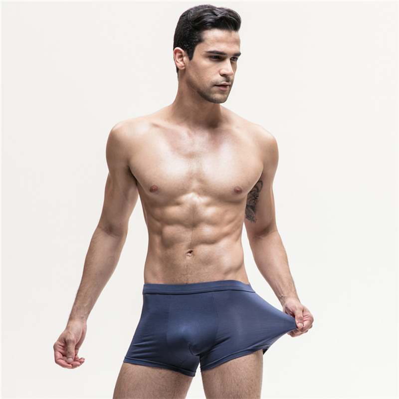 Men's underwear men's boxers modal breathable shorts head waist youth sexy U convex boxer