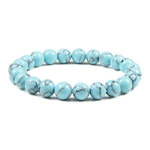 Image 3 - Natural Stone Lava Matte Hematite Beads Bracelet Fashion Charm Buddha Prayer Bracelets For Men Women Yoga Jewelry Gifts pulseras