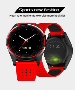 V9 Smart Watchese Suppport SIM Fitness Tracker Sports Bracelet Heart Rate Monitor Round Dial Smartwatch for Men Women