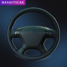 มือเย็บพวงมาลัยรถสำหรับ Honda Accord 7 2004 2007 Auto Braid บนพวงมาลัยอุปกรณ์ตกแต่งภายใน