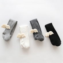 Cotton Newborn Baby Boy Socks Children Knee High Girls Sweet Wing Leg Warm Infant Long Tube Kids Winter