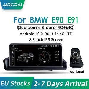 Image 2 - Android 10.0 Carplay Navigation Multimedia Player Radio For BMW Series 3 E90 E91 E92 without Original Screen Qualcomm core