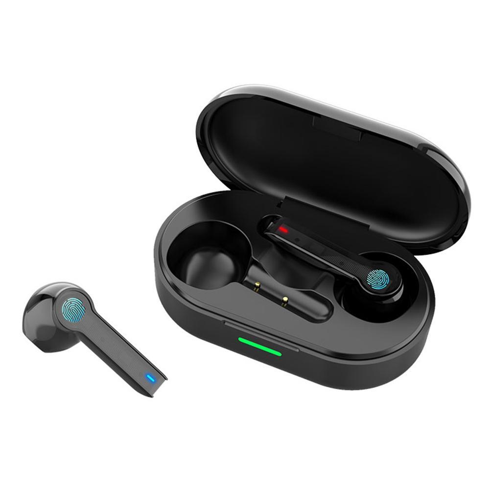 Fone de ouvido bluetooth 500 mah caixa de carregamento 5.0 ipx6 tws fone sem fio à prova dsem água fones de ouvido com micro fones dropship