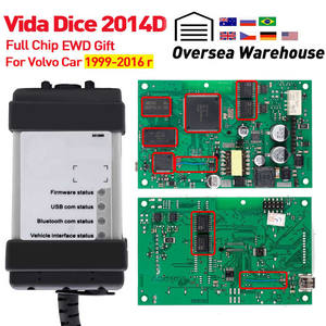 Vida Dice 2014D For Volvo Car from 1999-2016 diagnostic Tool Vida Dice Full Chip with EWD Green Board OBD2 Car Scanner For volvo