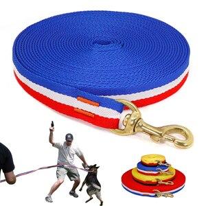 Нейлоновый Поводок для собак, для бега, для отслеживания, нескользящий, длинный поводок для собак, для тренировок, для прогулок, 3 м, 5 м, 10 м, 20 ...