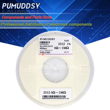 4000PCS 2512 1% SMD Resistor 2512 0.01R 0.091R 0.1R 0.91R 0R 1R 10M 5% resistor in reel 2512 chip fixed resistor