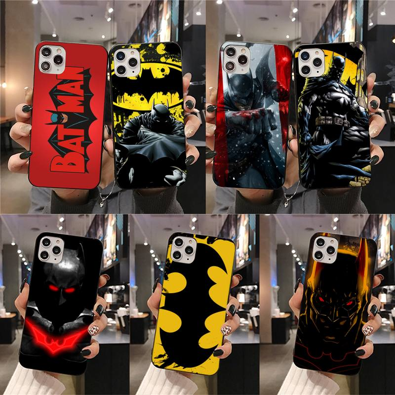 Чехол для телефона Super heros Batmans для iphone 12 11 Pro Max Mini XS Max 8 7 6 6S Plus X 5S SE 2020 XR