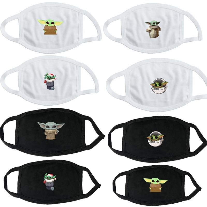 Disney Mandalorian Yoda Baby Washable Reusable Mask For Adult Kids Star Wars Anti Pollution Anti-haze Mouth Face Mask Toys