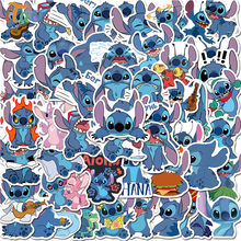 Willekeurige/Pack Cartoon Stitch Stickers Waterdichte Skateboard Gitaar Laptop Bagage Scrapbooking Notebook Briefpapier Sticker Kid Speelgoed(China)