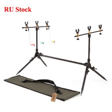 Lixada Fishing Rod Pod Adjustable Retractable Carp Fishing Rod Pod Stand Holder Fishing Pole Pod Stand Fishing Tackle Accessory