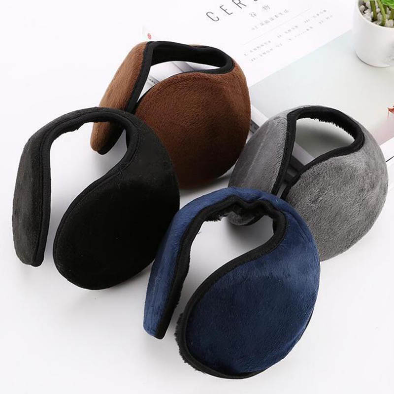 Calymel Unisex Fashion Winter Adult Cold Protection Earmuffs Solid Color Warm Plush Earmuffs Soft Ear Cover Protector