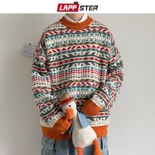 LAPPSTER Männer Follower Winter Gestrickte Pullover 2020 Koreanische Mode Harajuku Pullover Oansatz Herbst Lässige Vintage-Pullover Mantel