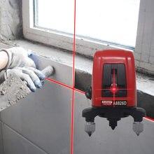 Nível laser vermelho a8826d, nivelamento automático de 360 graus com 2 linhas, 1 ponto horizontal e vertical