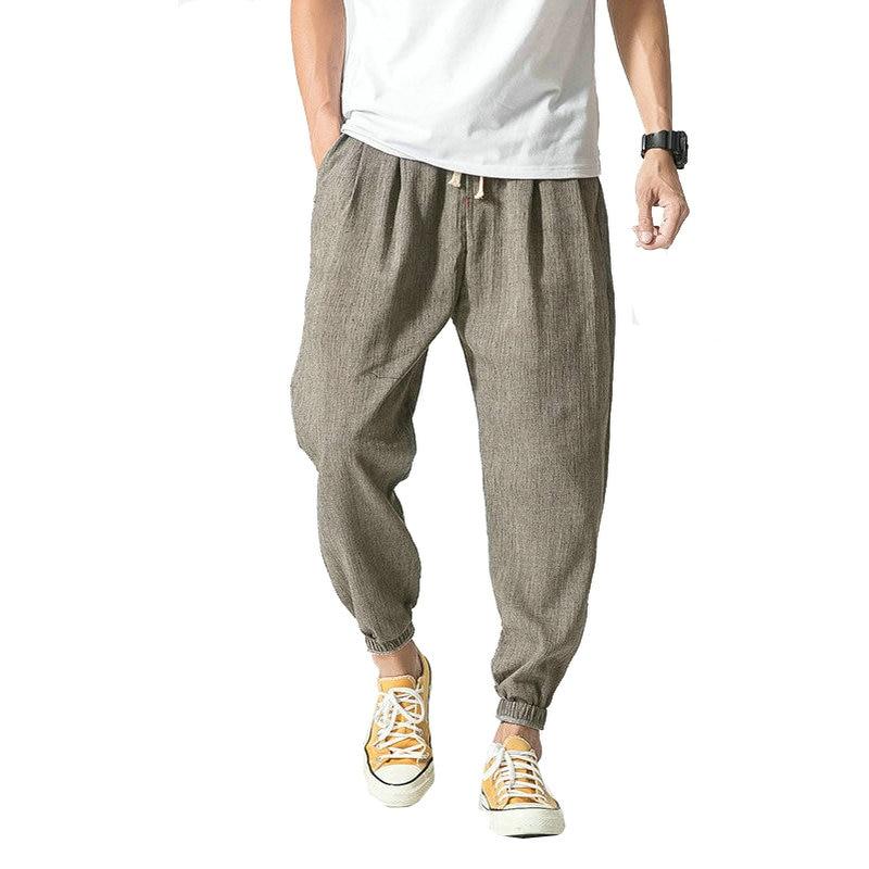 2020 Summer Autumn Hot Cotton Linen Men Pants Casual Chinese Style Male Trousers  Sweatpants Men (Asian Size)