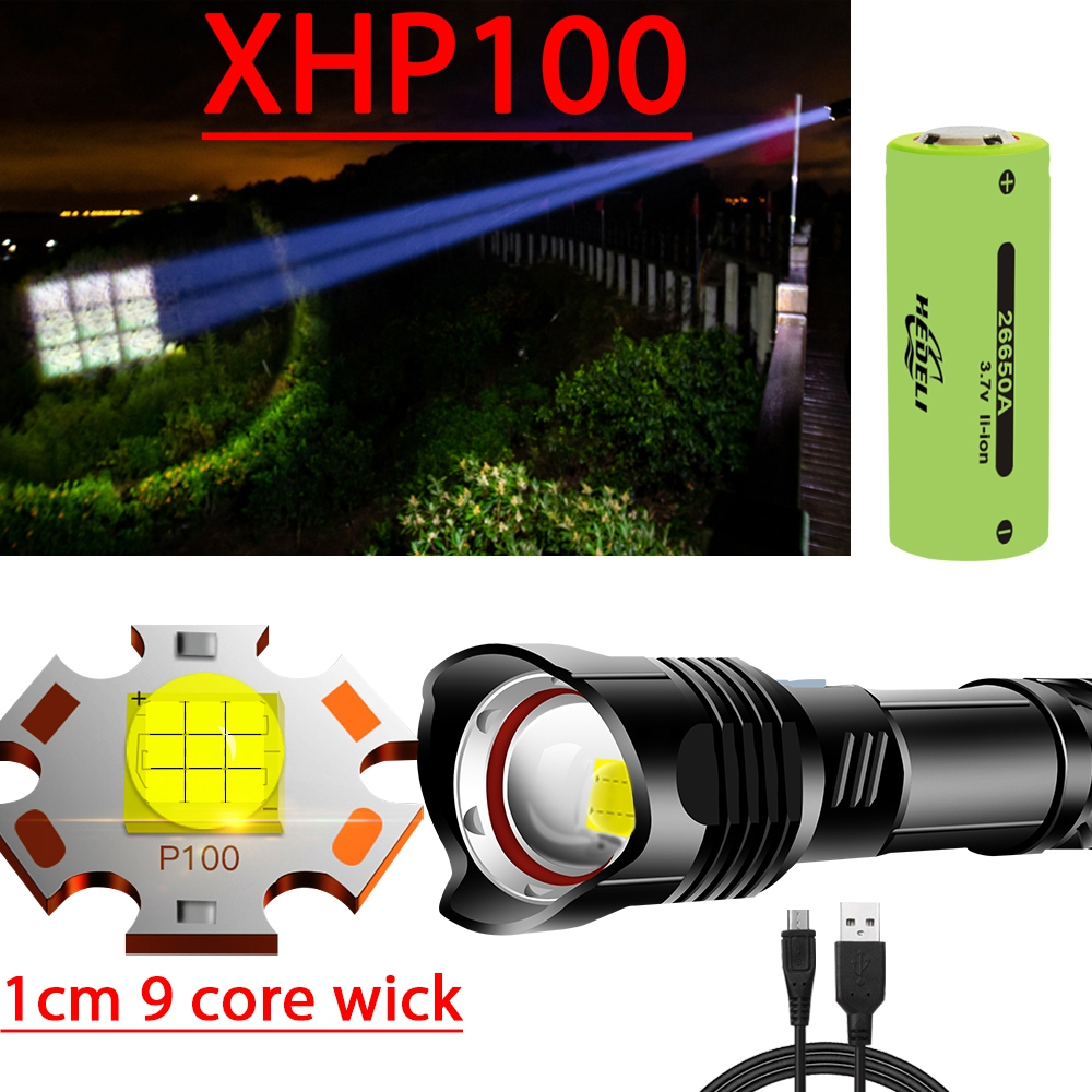 New Xhp100 1cm Wick Powerful Led Flashlight Torch Xhp90 Tactical Flashlight Usb Rechargeable Flash Light 18650 Xhp70 Led Lantern