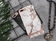 Madevil  Geometric Marble Texture Phone Case For iPhone 7 8 6 6s Plus IMD Silicone Stone Image Back Cover phone shell
