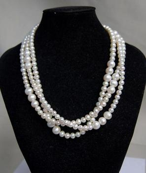 Unique Pearls jewellery Store AA 9MM White Round Genuine Freshwater Pearl Necklace Charming Women Gift Fine Jewelry