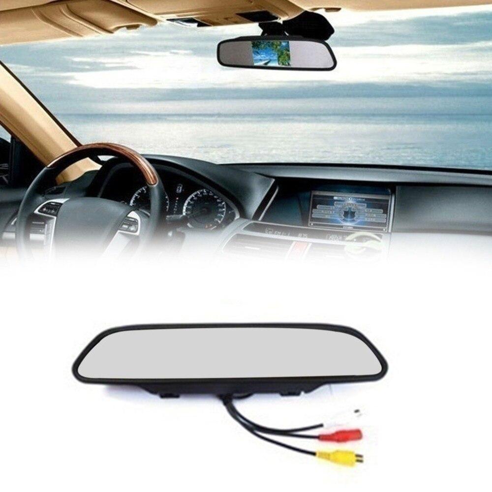"""Güvenlik ve Koruma'ten Gözetim Kameraları'de Araba lisansı Plaka 7 Kızılötesi Arka görüş HD Araba Ters Dikiz Kamera + 4.3 """"Inç LCD Ayna monitör ekranı Ekran kiti title="""