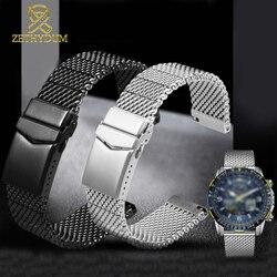 Hohe qualität Milan mesh edelstahl armband für b-reitling ich-wc C-itizen S-eiko uhr strap mens luxus 22mm armband