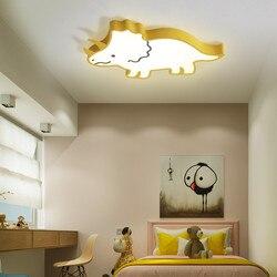 Nowoczesne lampy sufitowe LED dla dziewczynki chłopiec dziecko sypialnia Cartoon Dinosur dziecko księżniczka dziecko sufit pokoju lampa dla dzieci