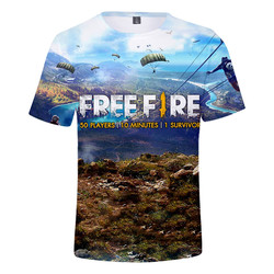 Game Free Fire 3D printing T-shirt men's and women's fashion streetwear O-neck short-sleeved T-shirt tops unisex