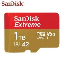 جديد سانديسك مايكرو SD بطاقة A2 1 تيرا بايت 512 جيجابايت 400 جيجابايت Mcrosd الأصلي TF بطاقة فلاش بطاقة U3 بطاقة الذاكرة V30 تصل إلى 160 برميل/الثانية