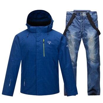 2020 New Ski Suit Men Winter Warm Windproof Waterproof Outdoor Sports Snow Jackets And Pants Male Ski Equipment Snowboard Jacket