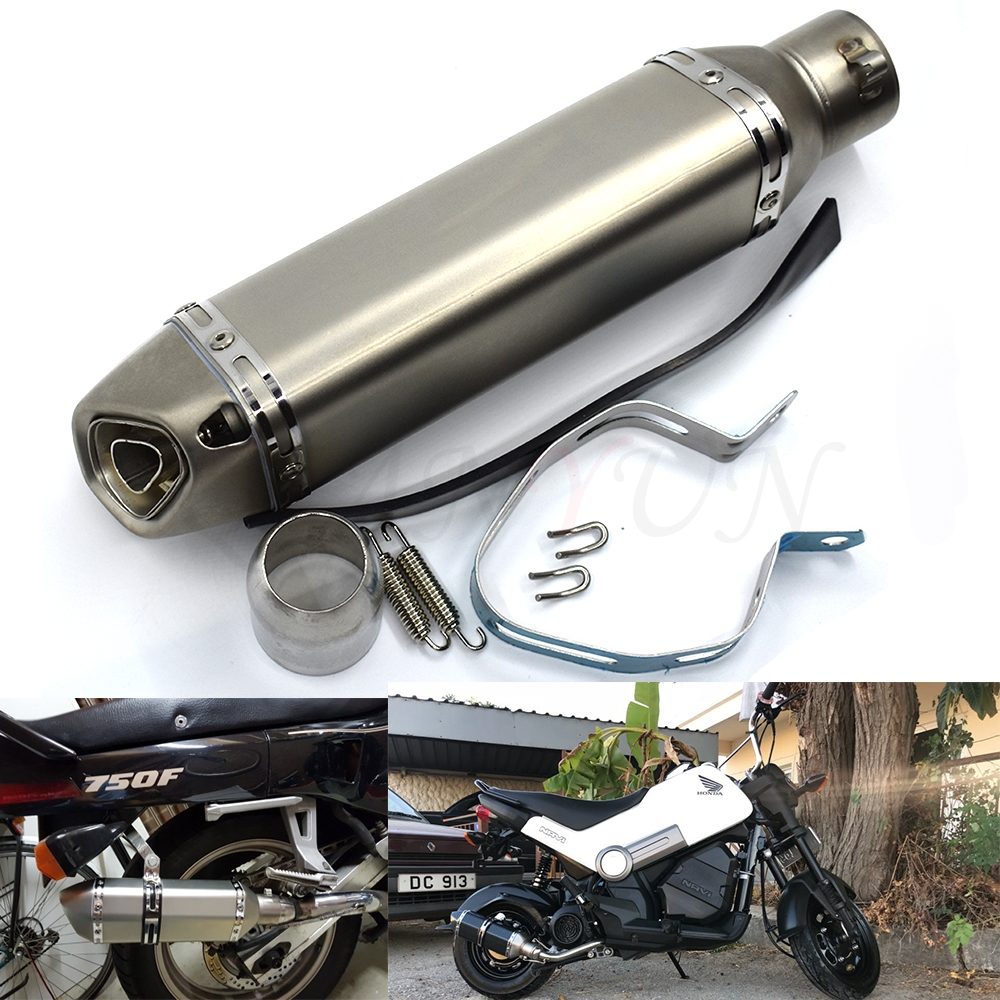 for Motorcycle parts <font><b>Exhaust</b></font> Universal 51mm Stainless Steel Motorbike <font><b>Exhaust</b></font> Pipe FOR <font><b>SUZUKI</b></font> GSR400 <font><b>GSR600</b></font> GSR750 B-KING1300 image