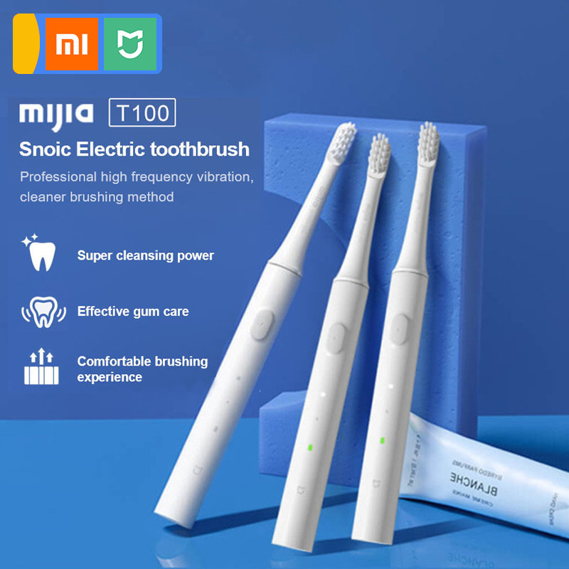 Xiaomi mijia T100 Sonic Electric Toothbrush Adult Waterproof Ultrasonic automatic Toothbrush USB Rechargeable 5