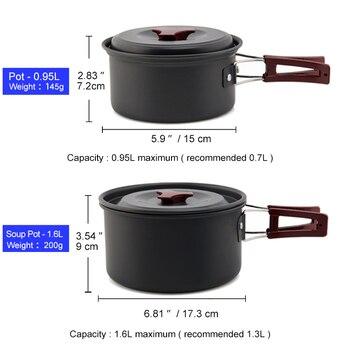 Camping Aluminium Alloy Cookware Set 2
