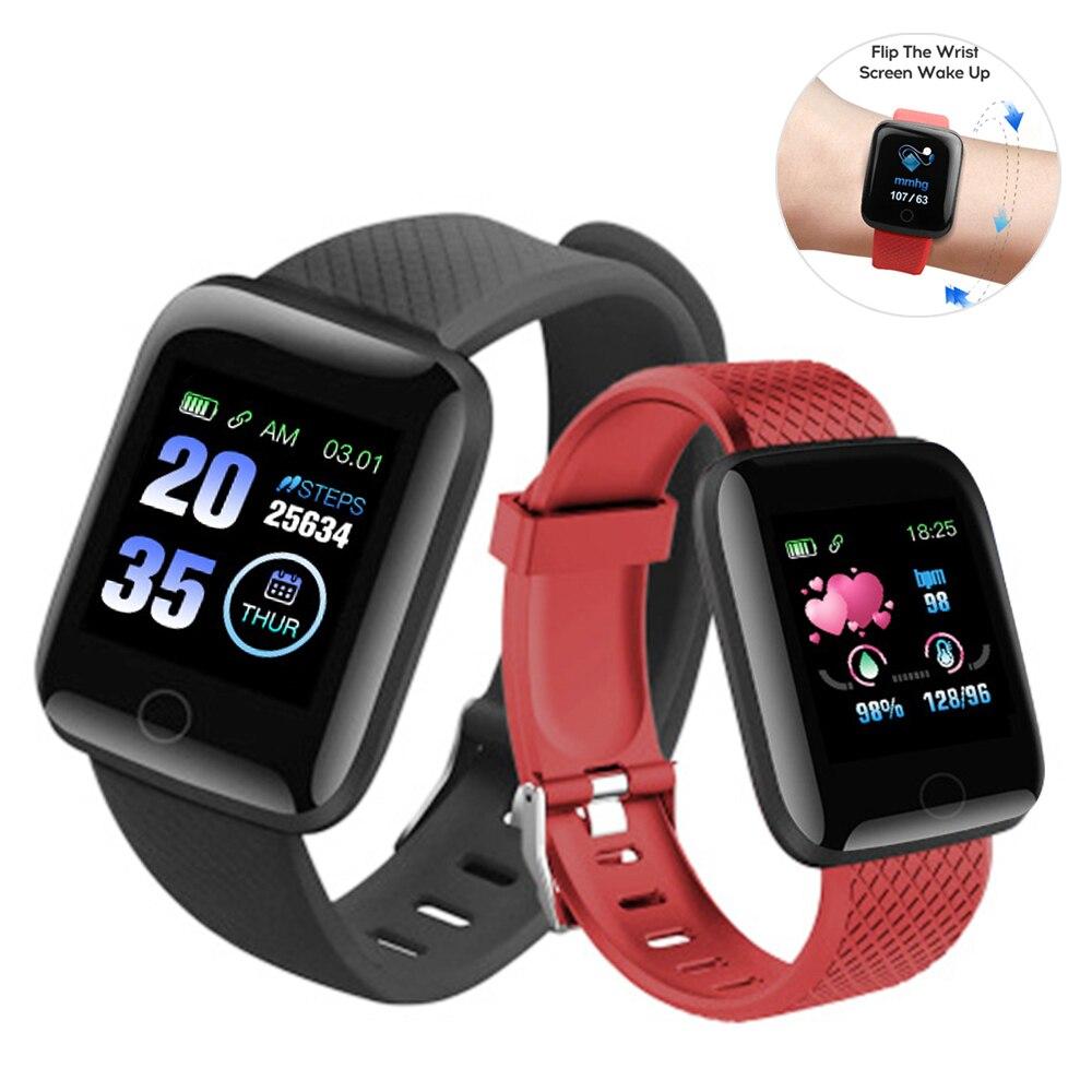 Умный Браслет, фитнес-трекер, часы с измерением артериального давления, монитор сердечного ритма, спортивный браслет