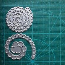 2 sztuk koło z koronki ramki metalowe szablony do wytłaczania stali do papier do scrapbookingu dekoracja wnętrz (rękodzieło) Craft 2020 nowy