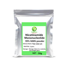 50-1000g Hot sale 99.8% Beta Nicotinamide Mononucleotide NMN Powder Supplement ,NAD+ Precursor 1pc Longevity support Riboside