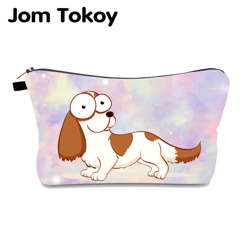 Jomtokoy Corgi Printing Waterproof Cosmetic Bag Pouches For Girl Gift