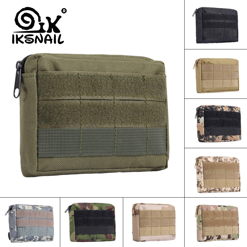 IKSNAIL Tactical Molle Pouch Outdoor Sport Bag Military Waist Pack Bag Small Pocket Military Running Pouch Travel Camping Bags
