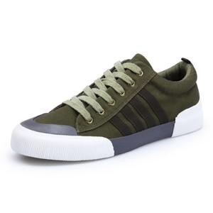 Image 5 - SHANTA 2020 Men Canvas Shoes Fashion Solid Color Men Vulcanized Shoes Lace up White Casual Shoes Men Sneakers chaussure homme
