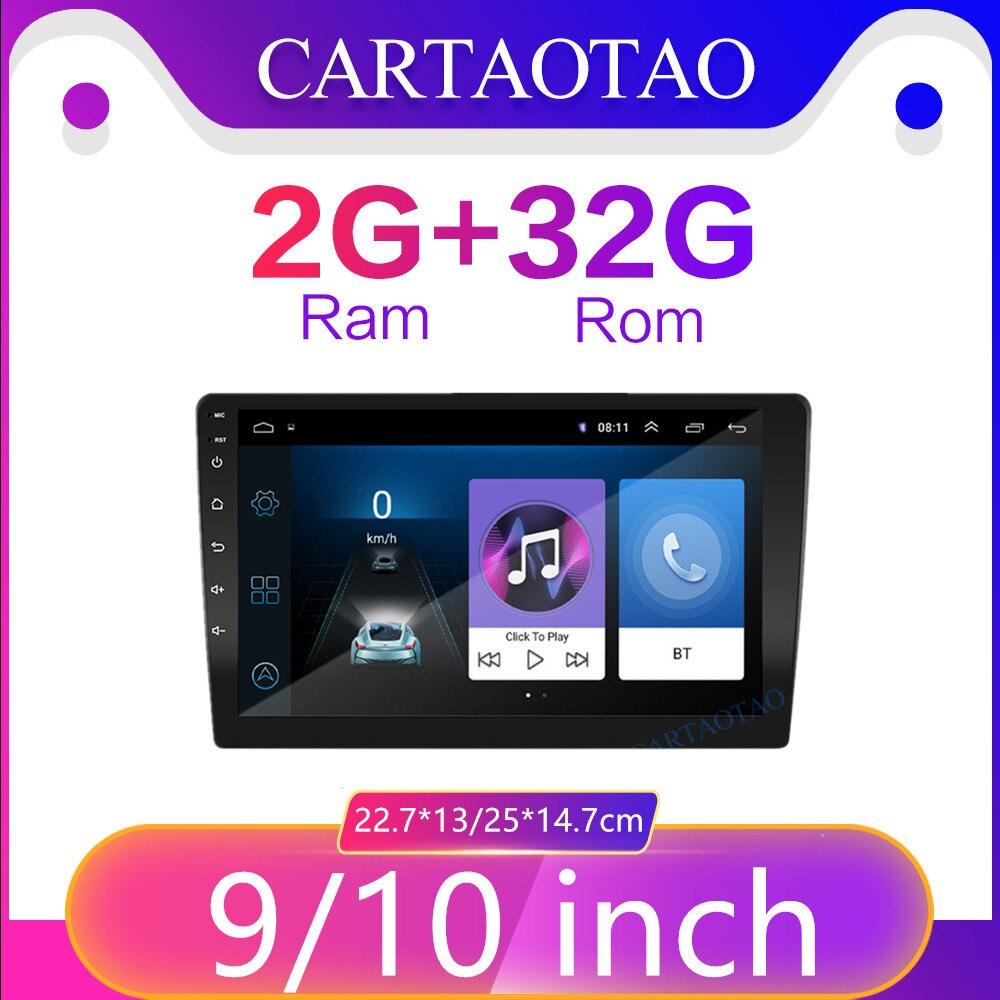 2 din Android 8 1 Stereo Car Radio 9inch10 1inchUniversal Host Car Radio Navigation GPS for Kia LADA Toyota Nissan video player