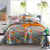CHAUSUB Bohemia Quilt Set Cotton Quilts For Bed Bedspread 3pcs Washed Quilted Bed Cover Sheets Coverlet King Size Summer Blanket