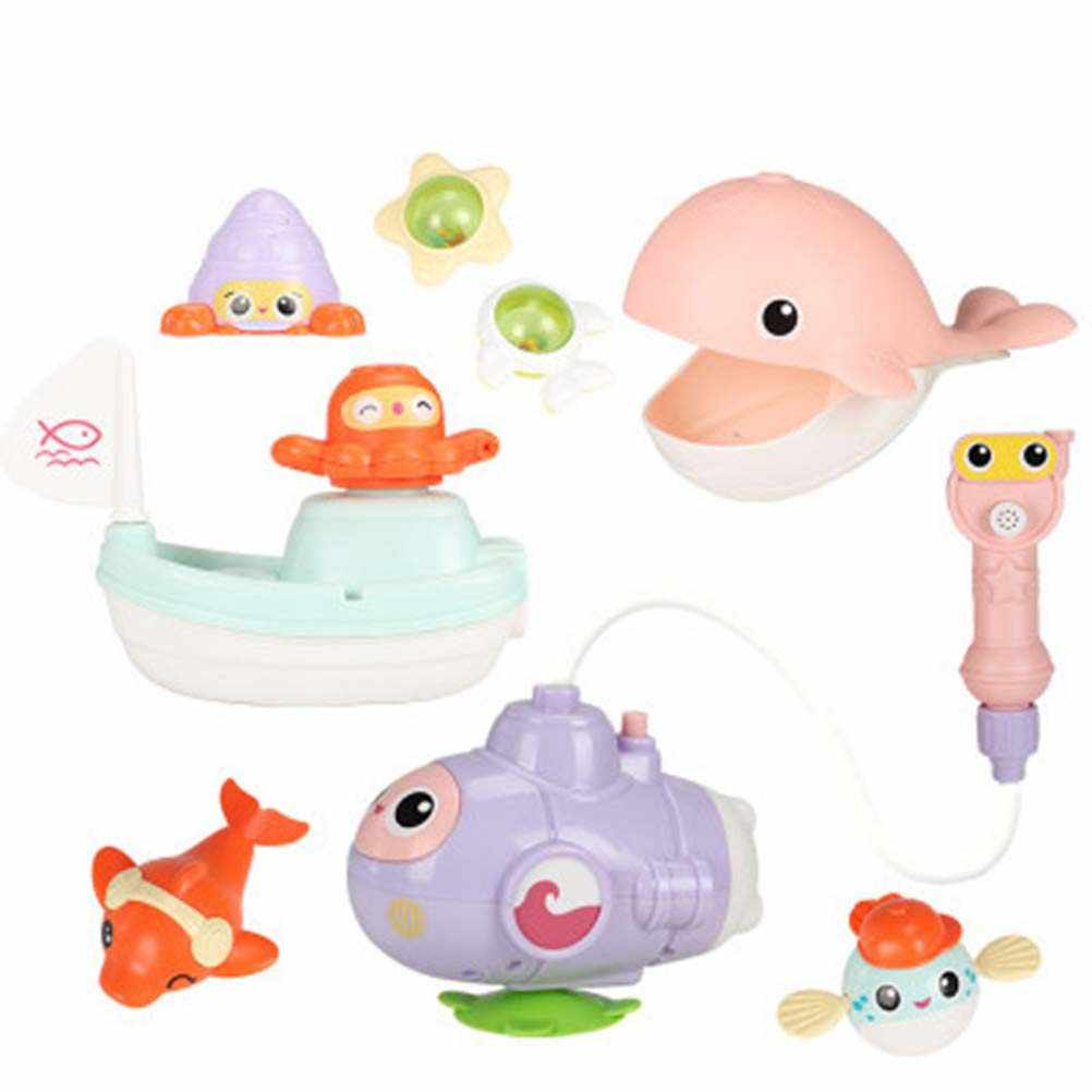 Mini Baby Squirt Water Bath Toy Bath Shower Game With Floating Boat Hand Shower Outlet Submarine Gift For Kids Toys Decor 30 Bath Toy Aliexpress
