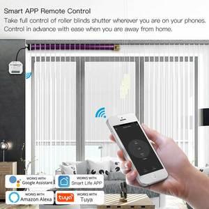 Image 4 - WiFi 미니 스마트 커튼 스위치 모듈 롤러 블라인드 셔터 AC 모터 스마트 라이프 Tuya, 원격 제어 Alexa Google Assistant