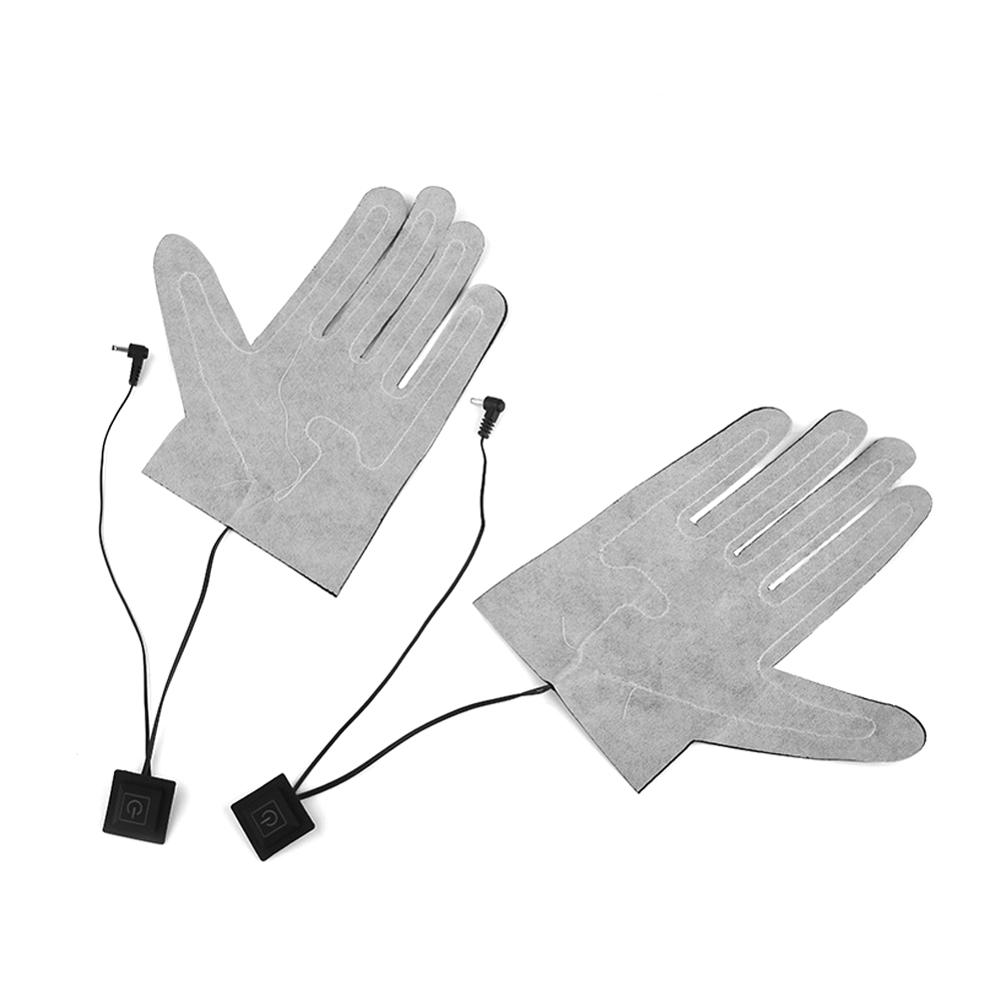 1pc Five-finger Gloves DC 7.4V Interface Electric Heating Pads Lithium Battery Power Supply Three-speed Thermostat Heating Sheet