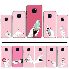 Fashion red nail Pink Hands Shell Phone Case Capa For Huawei Mate 9 10 20 Pro lite 20x nova 3e P10 plus P20 Pro Honor10 lite(China)